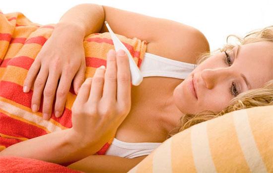 При ингаляции у женщины поднялась температура