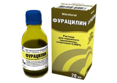 Раствор фурацилина для полоскания горла