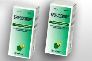 Бронхорасширяющий препарат Бронхолитин