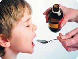 Лечение першения в горле у детей противокашлевыми препаратами