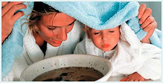 Лечение першения в горле у детей ингаляциями