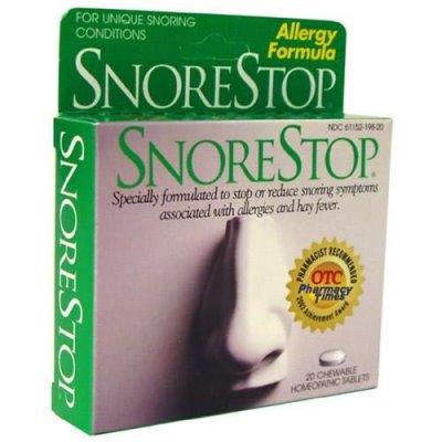 Таблетки СнорСтоп от храпа
