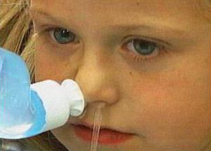 Промывание носа при катаральном гайморите у детей