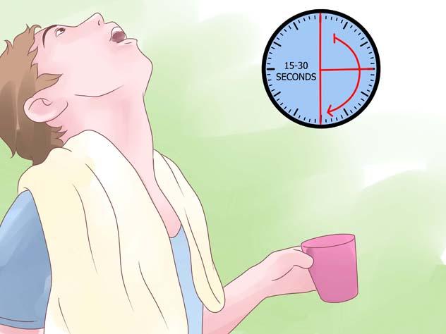 Длительность процедуры полоскания горла