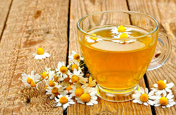 Ромашковый чай для полоскания горла
