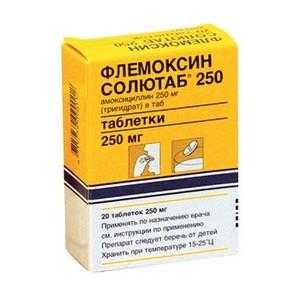 Флемоксин Солютаб антибиотик при лечении ангины