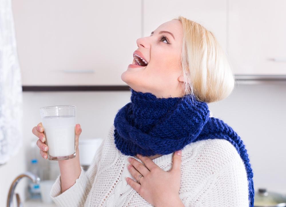 Полоскание больного горла