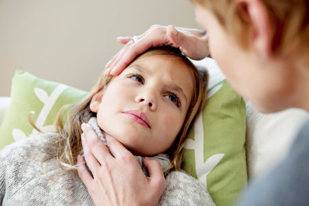 Боль в горле и температура у ребенка