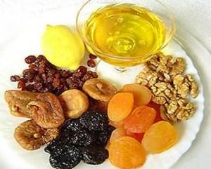 Сухофрукты мед лимон орехи