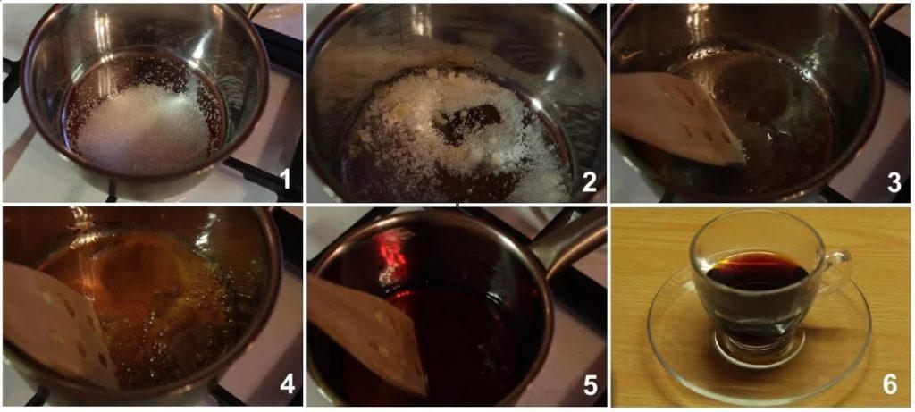 процесс варки сахара от кашля